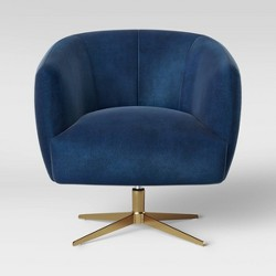 Morpho Swivel Velvet Arm Chair - Opalhouse™