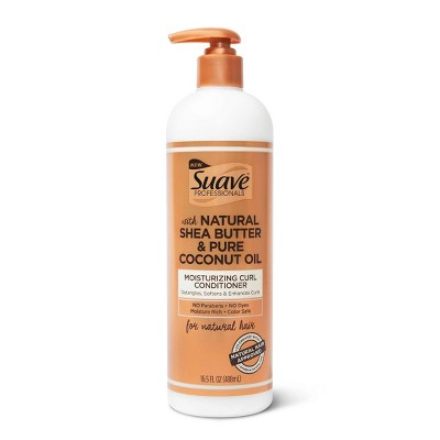 Suave Professionals for Natural Hair Moisturizing Curl Conditioner for Wavy Curly and Coily Hair Shea Butter and Coconut Oil - 16.5 fl oz