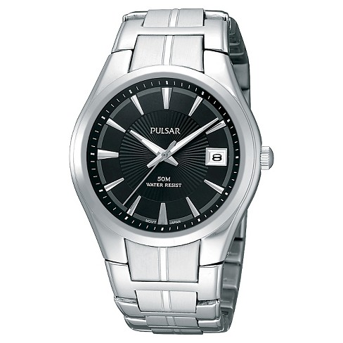 Men's Pulsar Basic Dress Watch - Silver Tone with Luminous Hands - PXH913 - image 1 of 1