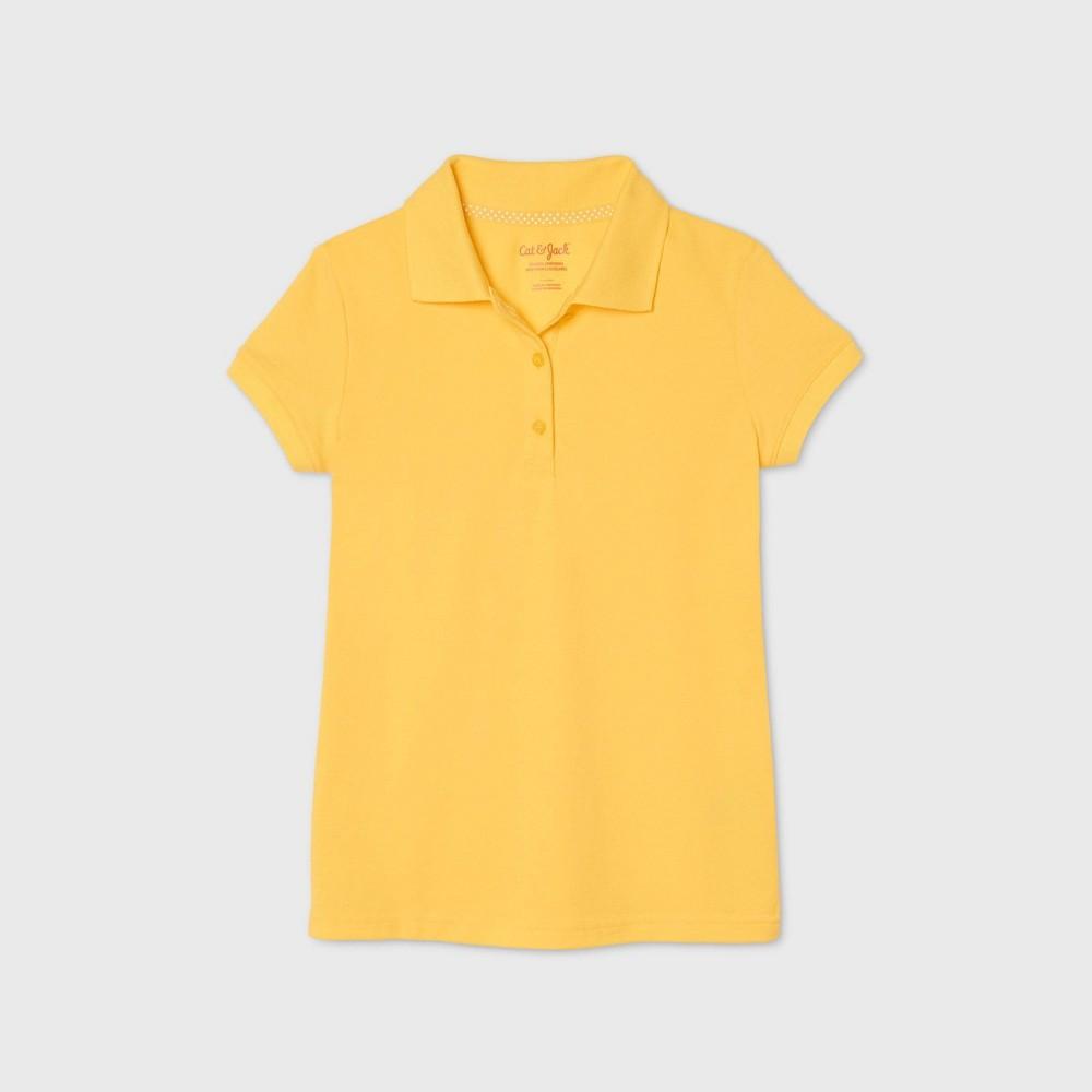 Girls 39 Short Sleeve Stretch Pique Uniform Polo Shirt Cat 38 Jack 8482 Yellow Xs