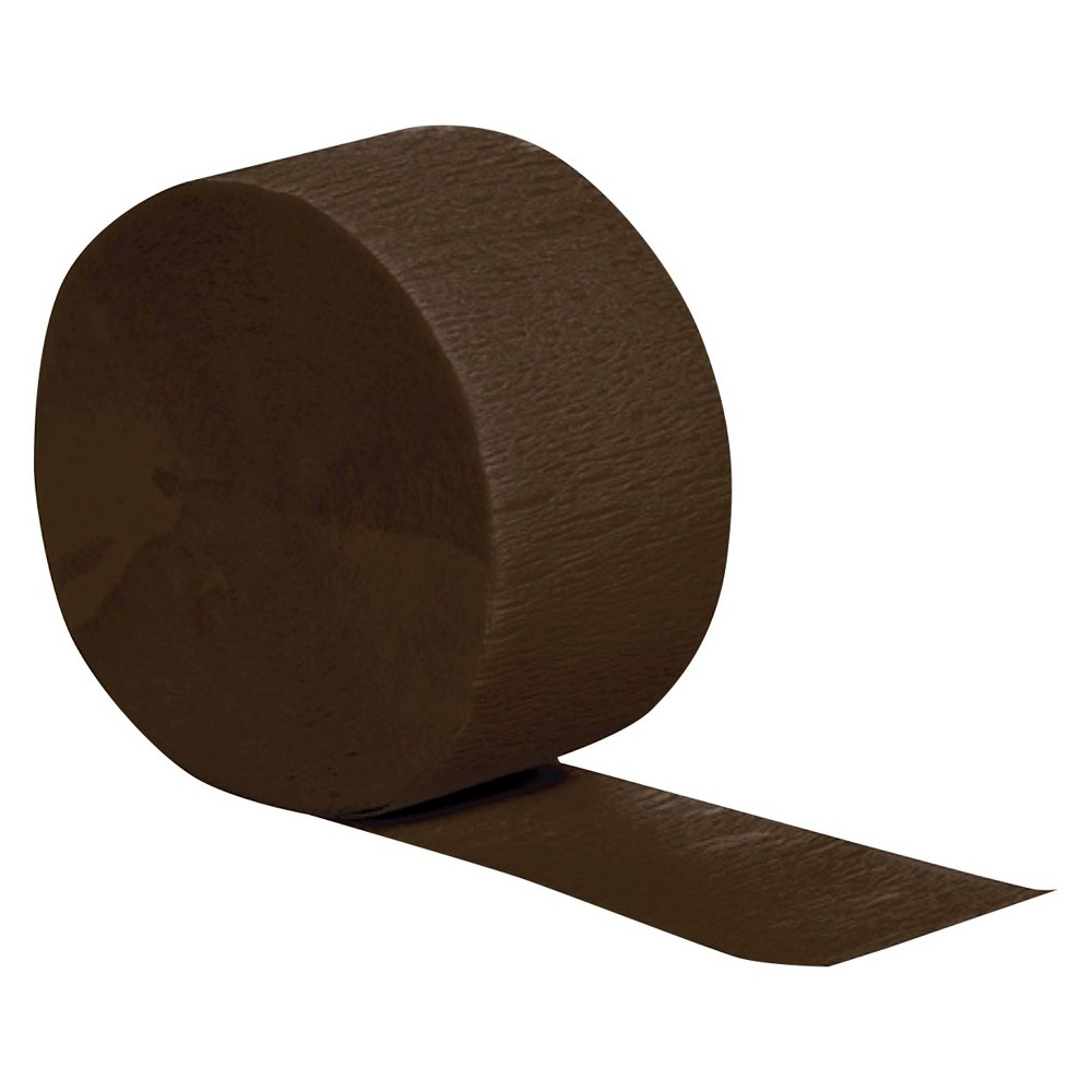 Chocolate Brown Party Streamers