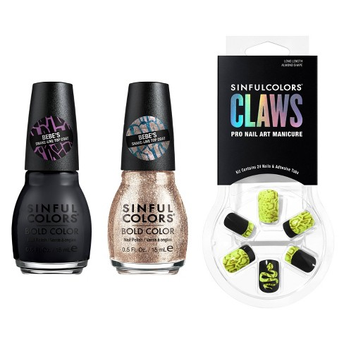 Sinful Color Flase Nails and Nail Color Set - 3pc - image 1 of 4