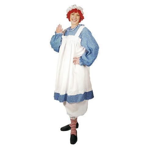 Women's Plus Size Raggedy Ann Costume Blue 1X - image 1 of 1