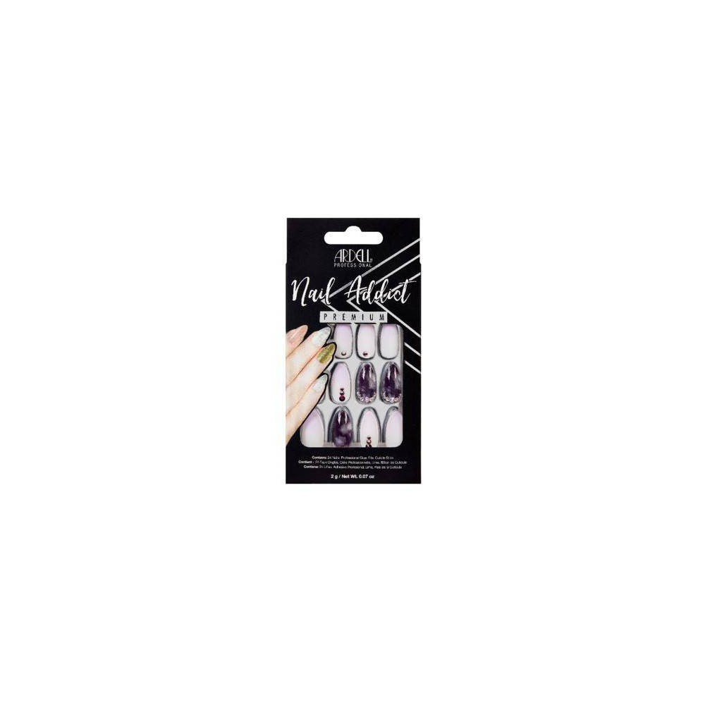 Image of Ardell Nail Addict False Nails Marble Purple Ombre - 24ct
