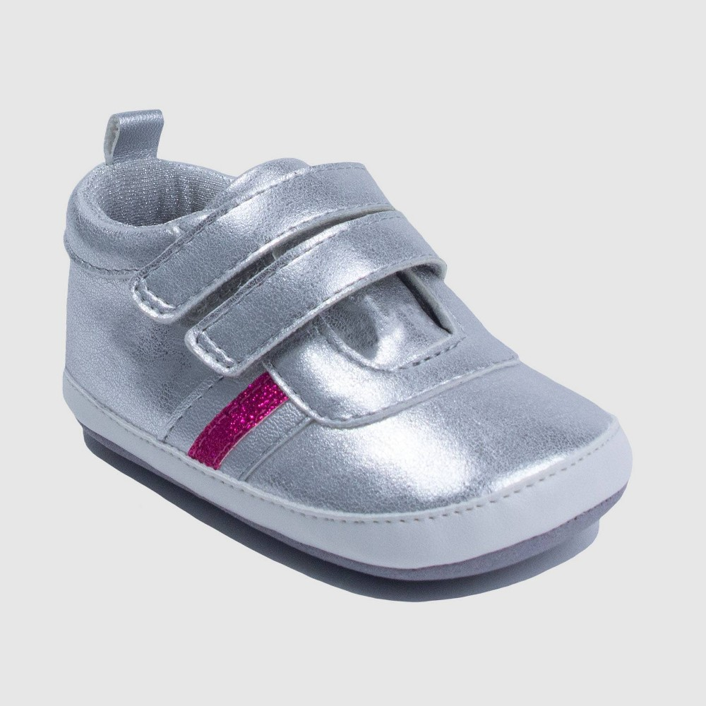 Image of Ro+Me by Robeez Baby Girls' Molly Sneaker - Silver 0-6M, Boy's