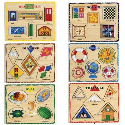 Puzzleworks Self Correcting Coloful Shape Puzzles  - Set of 6