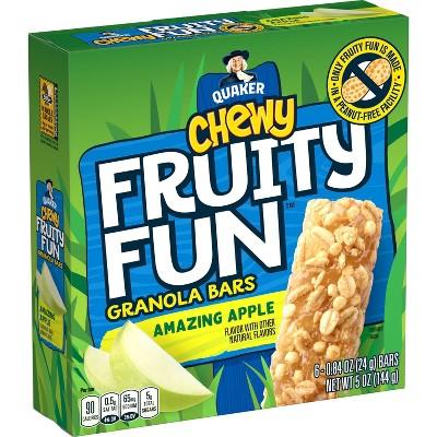 Quaker Chewy Fruity Fun Amazing Apple Bars - 5oz/6ct