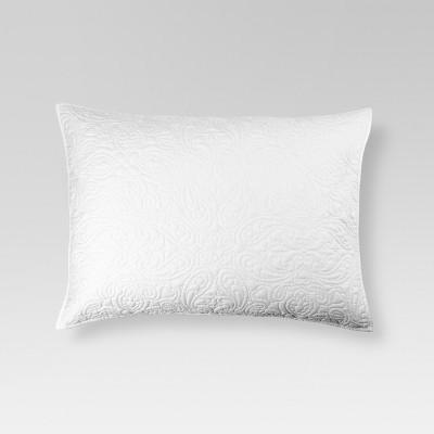 White All-Over Stitched Chambray Sham (Standard)- Threshold™