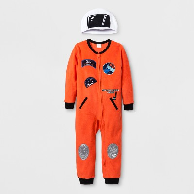 Baby Boys' Astronaut Blanket Sleeper - Cat & Jack™ Flame 12M