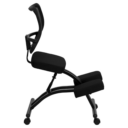 Mobile Ergonomic Kneeling Chair With Black Curved Mesh Back And Fabric Seat Flash Furniture Target