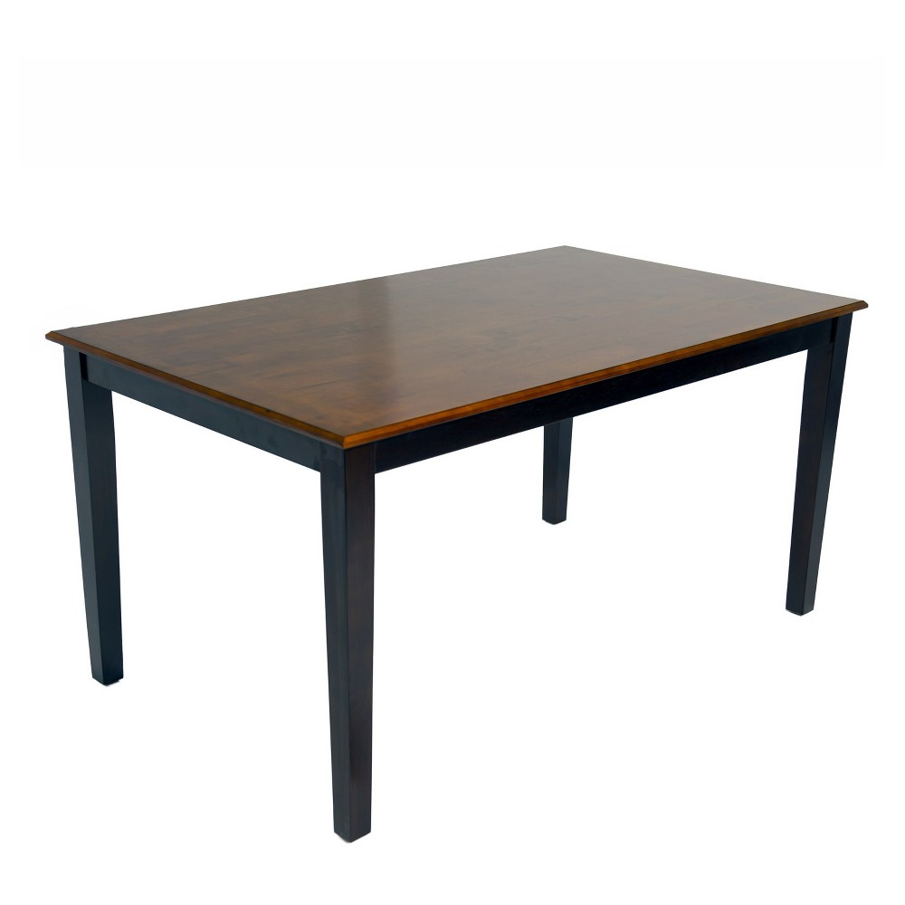 Image of Nell Dining Table Brown/Black - Home Source Industries