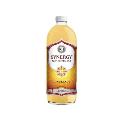 GT's Synergy Gingerade Organic Kombucha - 48 fl oz Bottle