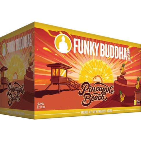 Funky Buddha Pineapple Beach Blonde Ale Beer - 6pk/12 fl oz Cans - image 1 of 3