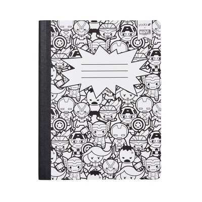 Composition Notebook College Ruled BxW Avengers - Yoobi™