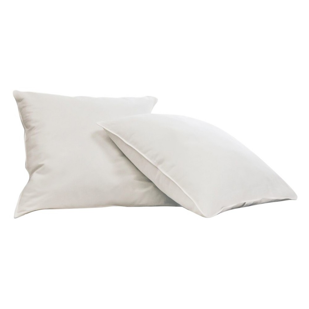 Image of Feather Filled Euro Square Pillow White 2pk - Blue Ridge Home Fashions