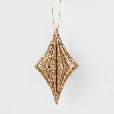 Glitter Ornate Diamond Christmas Tree Ornament Copper - Wondershop™