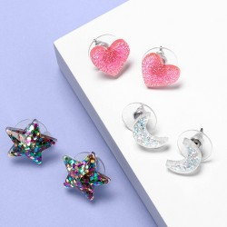 Girls' 3pk Stud Earring Set - More Than Magic™