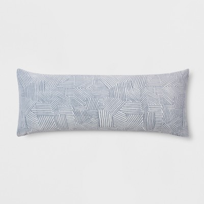 Embossed Body Pillow Cover Navy - Room Essentials™