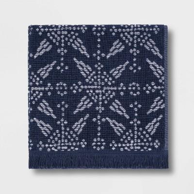 Tile Tufted Bath Towel Blue/White - Threshold™
