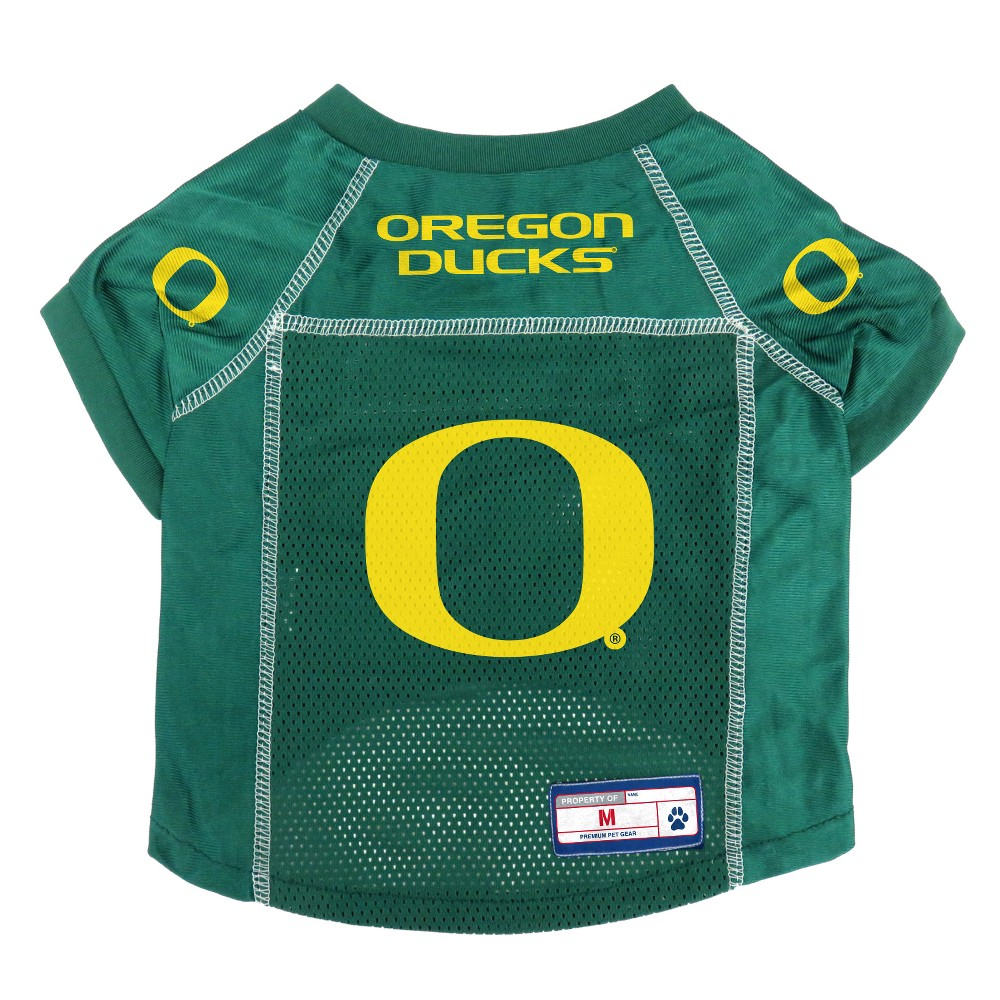 Oregon Ducks Little Earth Pet Football Jersey - M, Multicolored