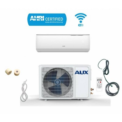 AUX 24000 BTU Ductless Wi-Fi Control 17 SEER 230V 2 Ton 12' Line Set Wall Mount Mini Split Air Conditioner with Heat Pump