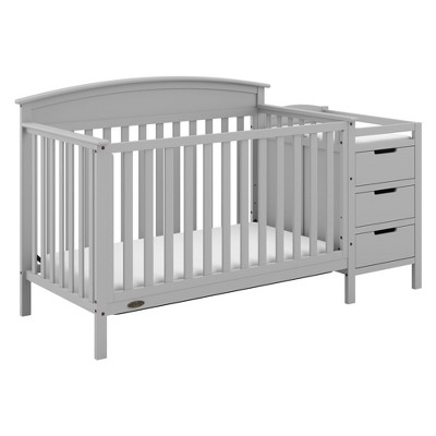 Graco Benton 4-in-1 Convertible Crib and Changer - Pebble Gray