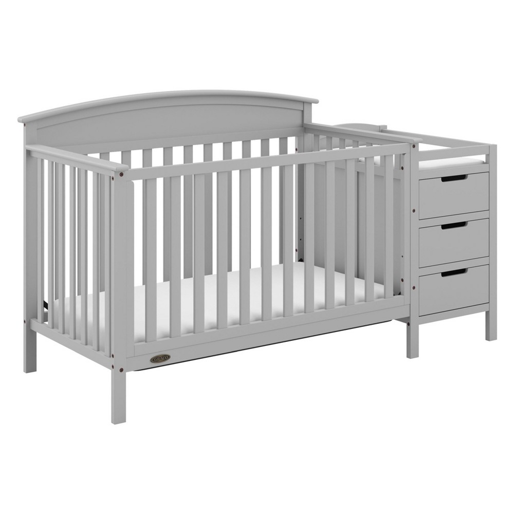 Image of Graco Benton 4-in-1 Convertible Crib and Changer - Pebble Gray