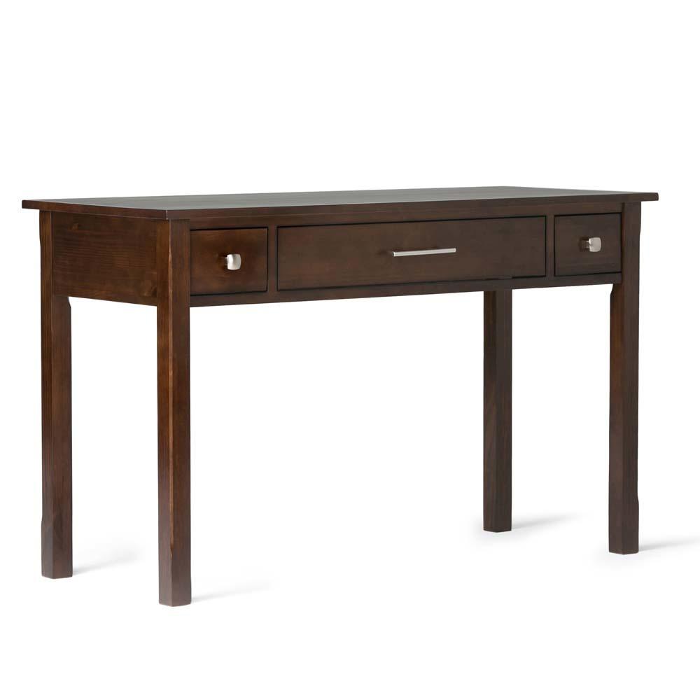FranklSolid Wood Writing Office Desk Rich Tobacco Brown - Wyndenhall