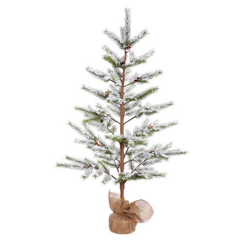 5ft unlit flocked desert pine artificial christmas tree
