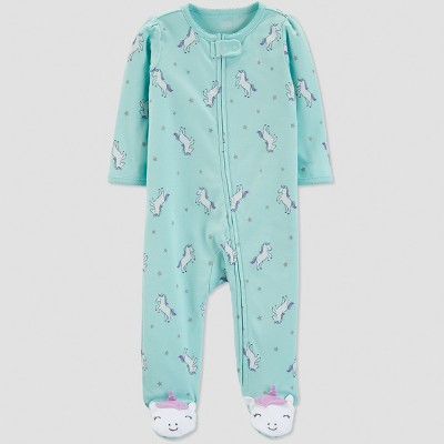 Baby Girls' Unicorn Sleep 'N Play - Just One You® made by carter's Mint 3M
