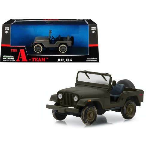 Jeep Cj 5 Army Green The A Team 1983 1987 Tv Series 1 43 Diecast