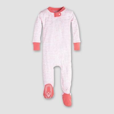 Burt's Bees Baby Girls' Organic Cotton Dew Drop Sleeper - Coral 3-6M
