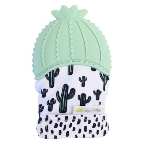 Itzy Ritzy Teething Mitt Cactus - Green - image 1 of 2