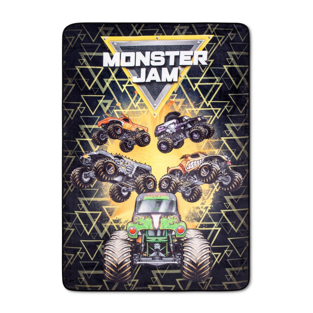 Image of Monster Jam Twin Blanket, bed blankets