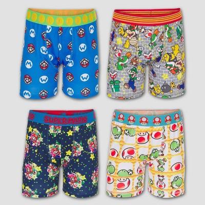 Boys' Super Mario 4pk Underwear