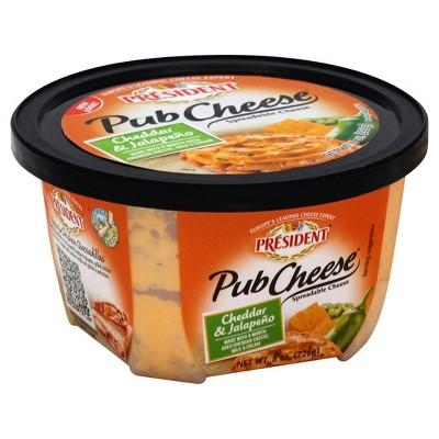 President Cheddar & Horseradish Cheese - 8oz