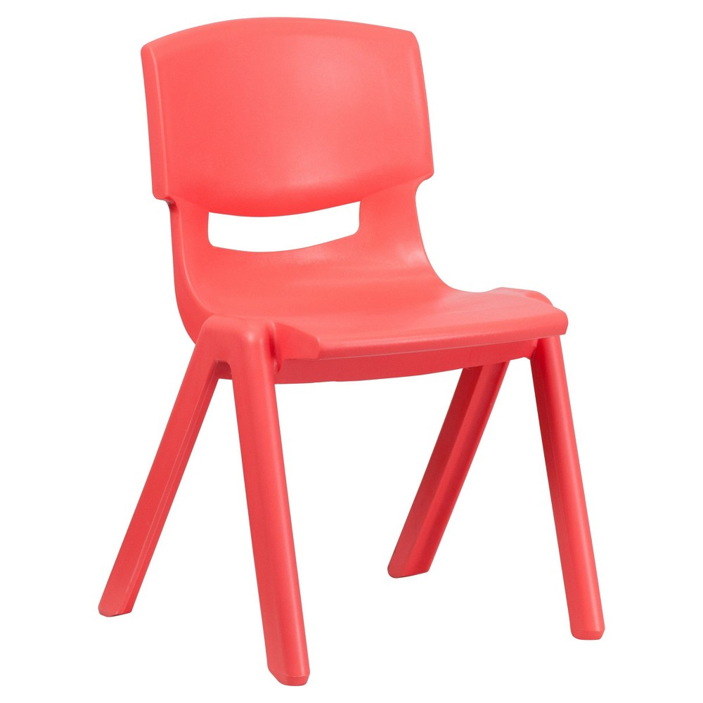 Large Stacking Student Chair - Red - Belnick