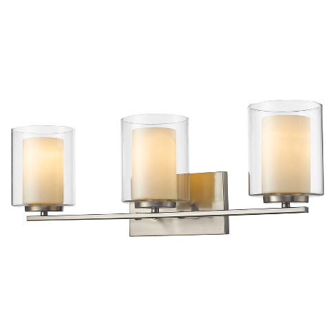 Vanity Wall Lights with Clear Outside; Matte Opal Inside Glass (Set of 3) - Z-Lite - image 1 of 1