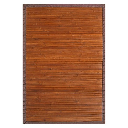 Solid Bamboo Area Rug - Chocolate (5'x8') - image 1 of 3