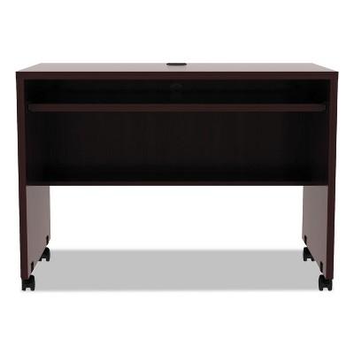 Alera Valencia Mobile Workstation Desk, 41 3/8 x 23 5/8 x 29 5/8, Mahogany VA204224MY