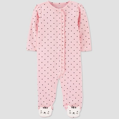Baby Girls' Kitty Thermal Sleep N' Play - Just One You® made by carter's Pink Newborn