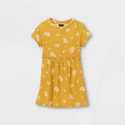 Toddler Girls' Rib Short Sleeve Dress - art class™