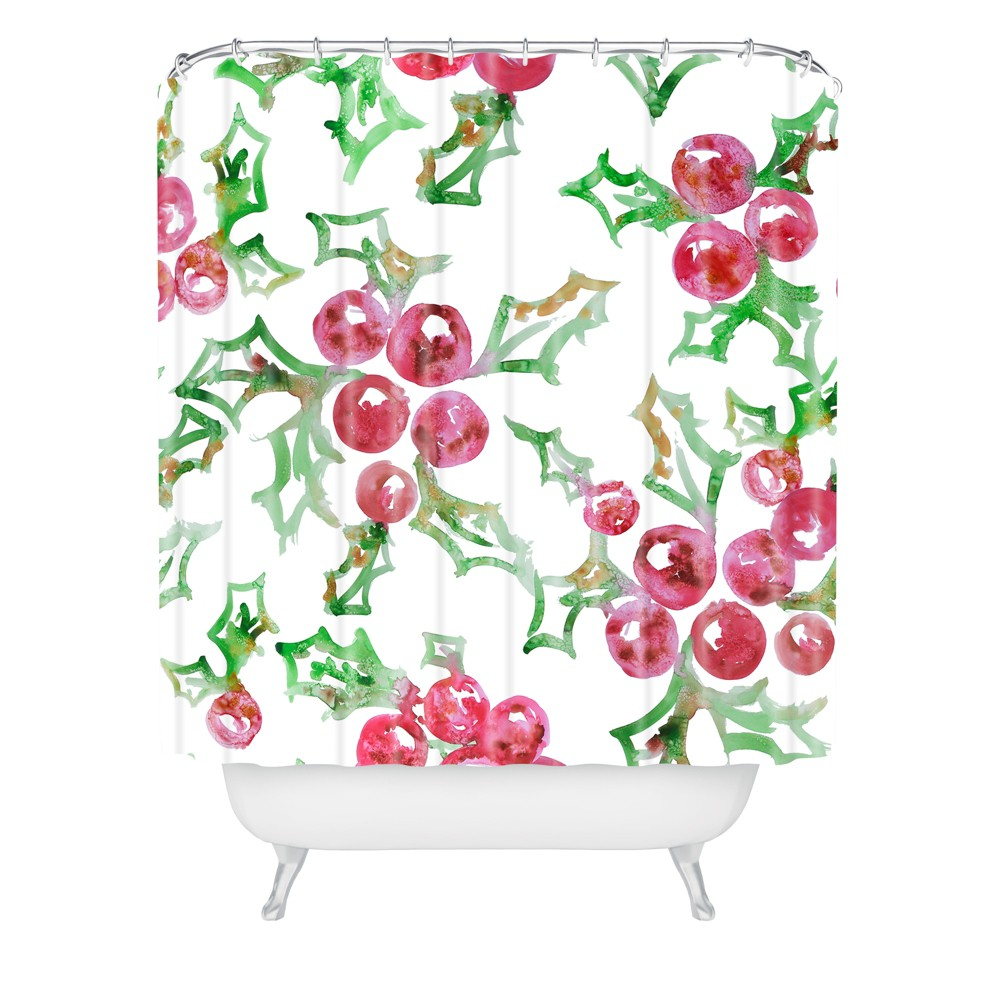 Image of All I want for Christmas Shower Curtain Red - Deny Designs