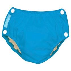 Charlie Banana Reusable Easy Snaps Swim Diaper, Blue Turquoise (Assorted Sizes)
