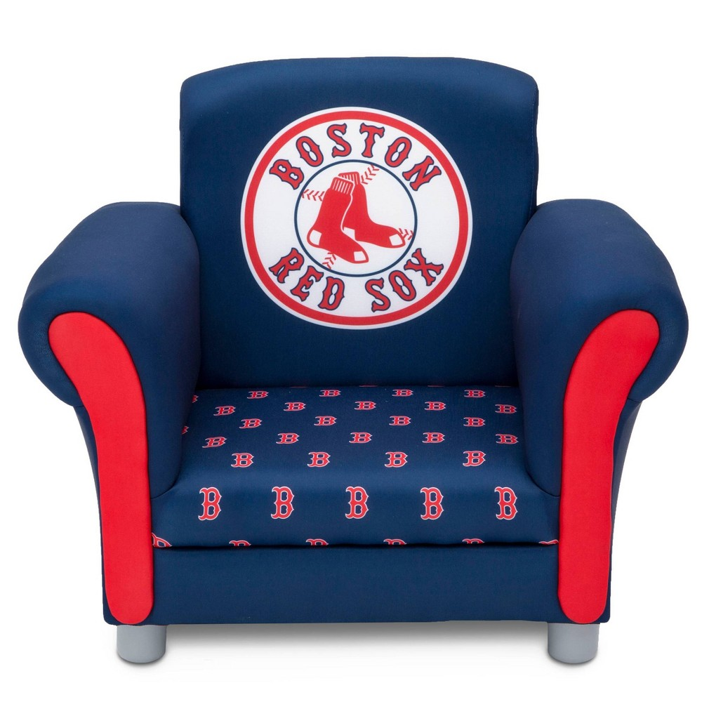 Image of Boston Sox Kids Upholstered Chair Red - Delta Children