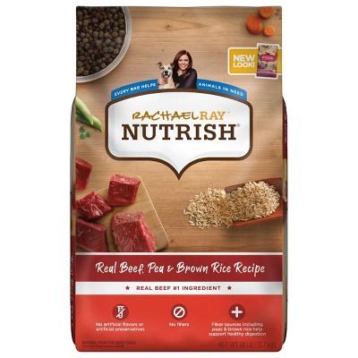 Rachael Ray Nutrish Real Beef, Pea & Brown Rice Recipe Adult Super Premium Dry Dog Food