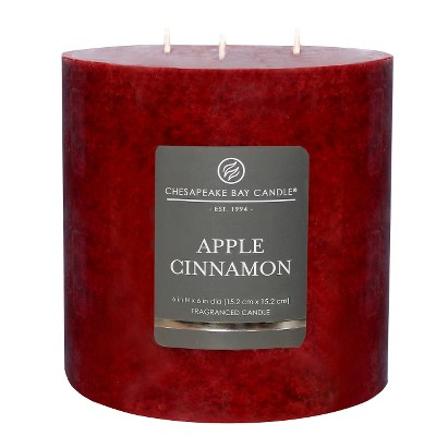 3-Wick Pillar Candle Apple Cinnamon 6 x6  - Chesapeake Bay Candle®