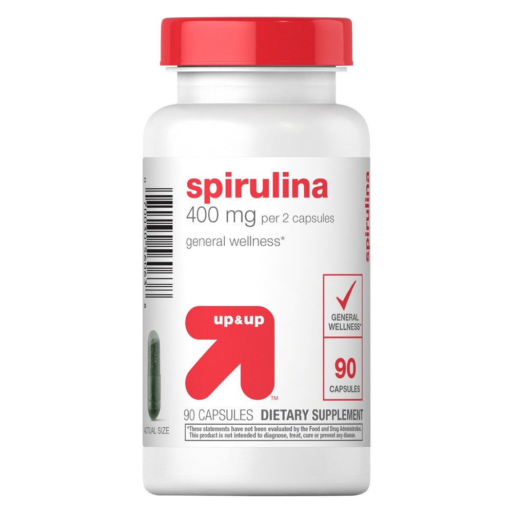 Spirulina Dietary Supplement Capsules - 90ct - Up&Up