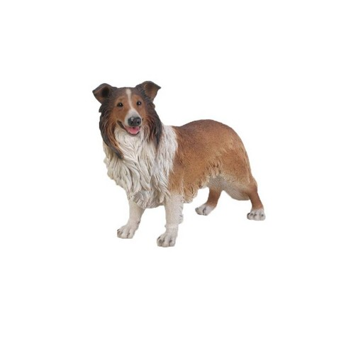 """21.5"""" Polyresin Collie Statue Brown - Hi-Line Gift - image 1 of 1"""