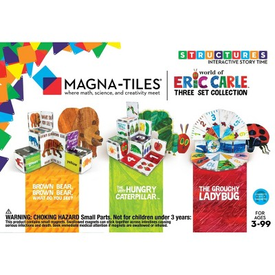 Magna-Tiles Eric Carle Collection - Hungry Caterpillar/Brown Bear/Grouchy Ladybug